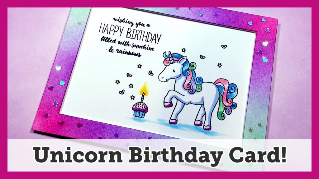 unicorn magical birthday card video 047