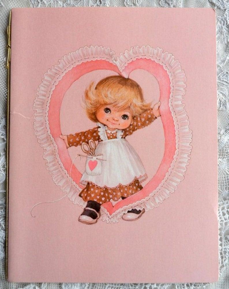 vintage greeting card vintage birthday card little girl to friend used hallmark