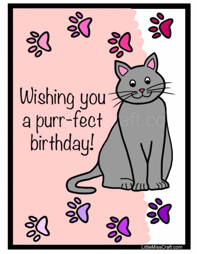cat birthday coloring page happy birthday cards cat