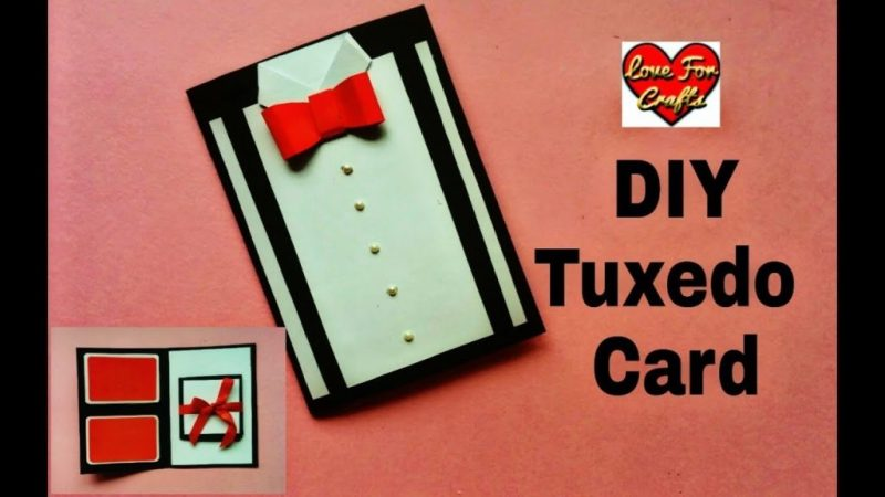diy suit tuxedo greeting card tutorial brothers day fathers day gift idea
