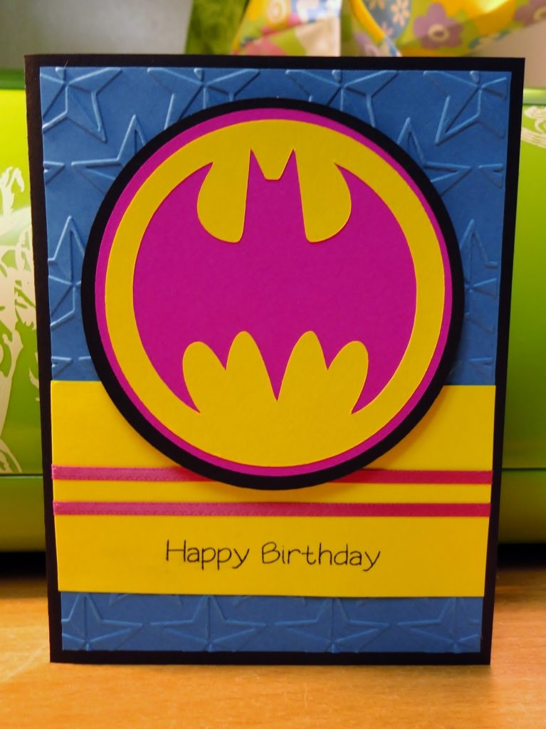 greetings from the grotto batman birthday card for a
