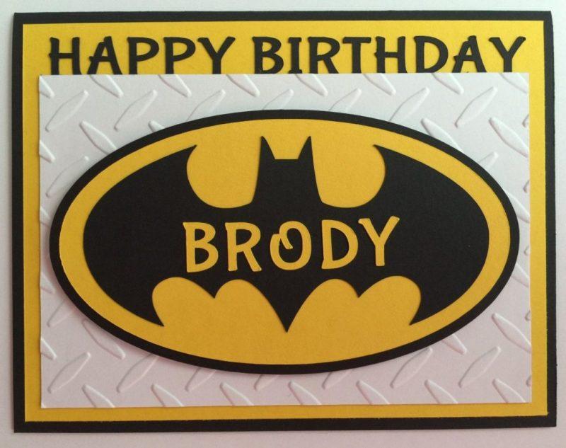 handmade personalized batman birthday card a2 super hero