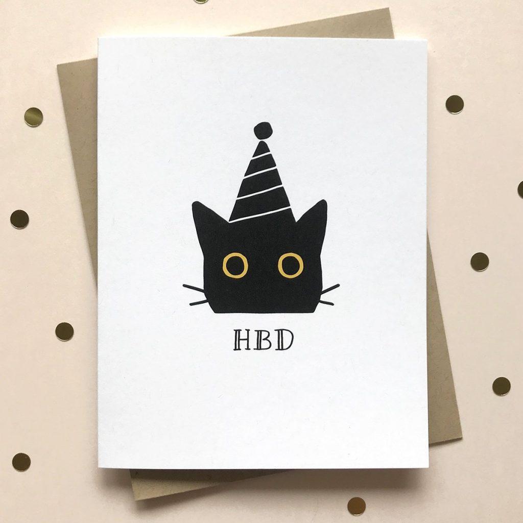 hbd cat birthday card creative birthday cards funny