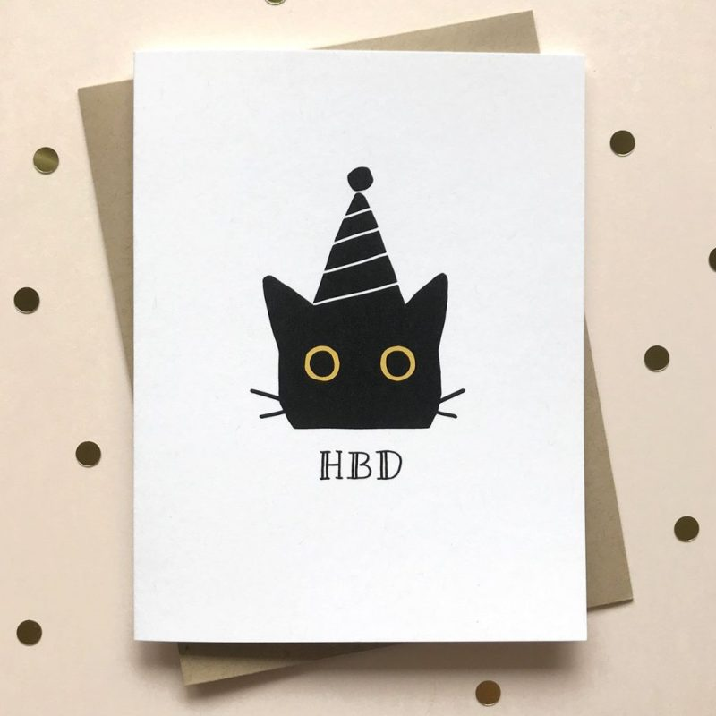hbd cat birthday card creative birthday cards funny