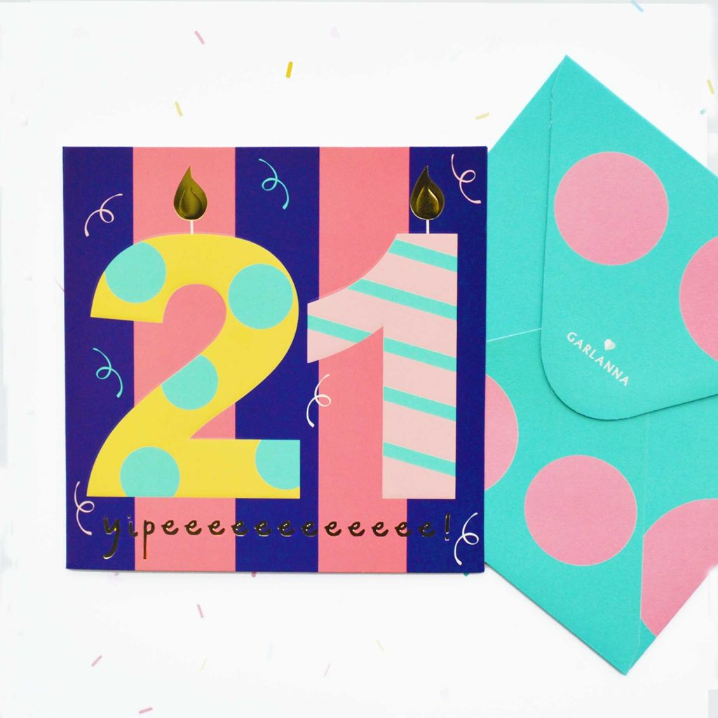 little moments 21st birthday card