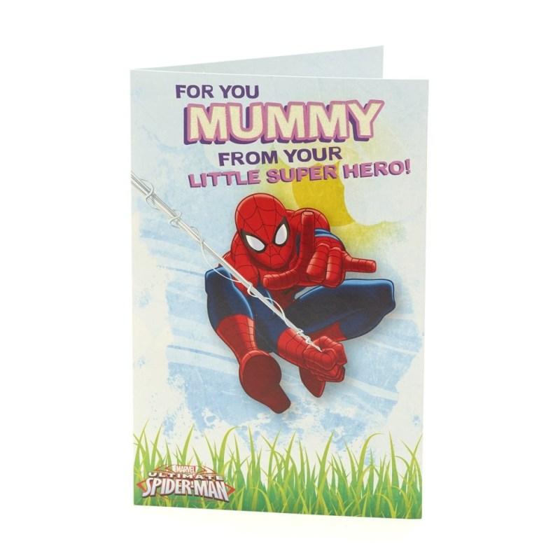 marvel spiderman mummy from son birthday card