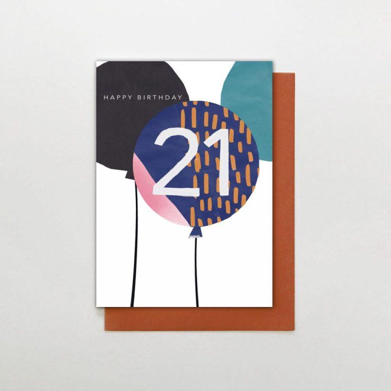 stop the clock 21st birthday card sc27