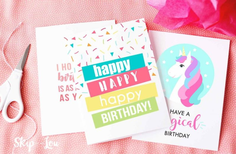 9 free printable birthday cards for everyone