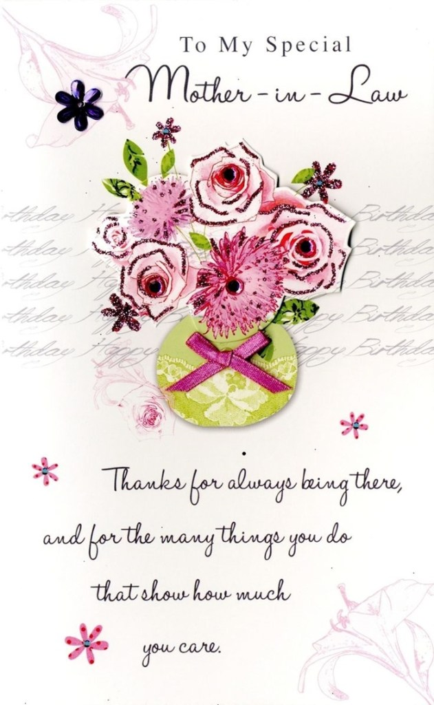beautiful birthday cards to send to your mother in law on