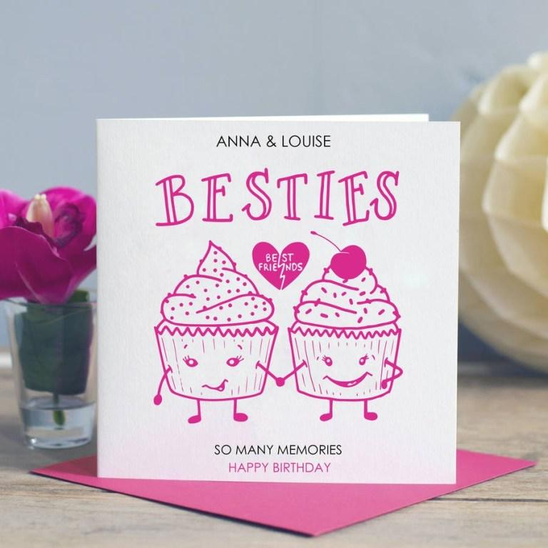 best friend birthday card besties