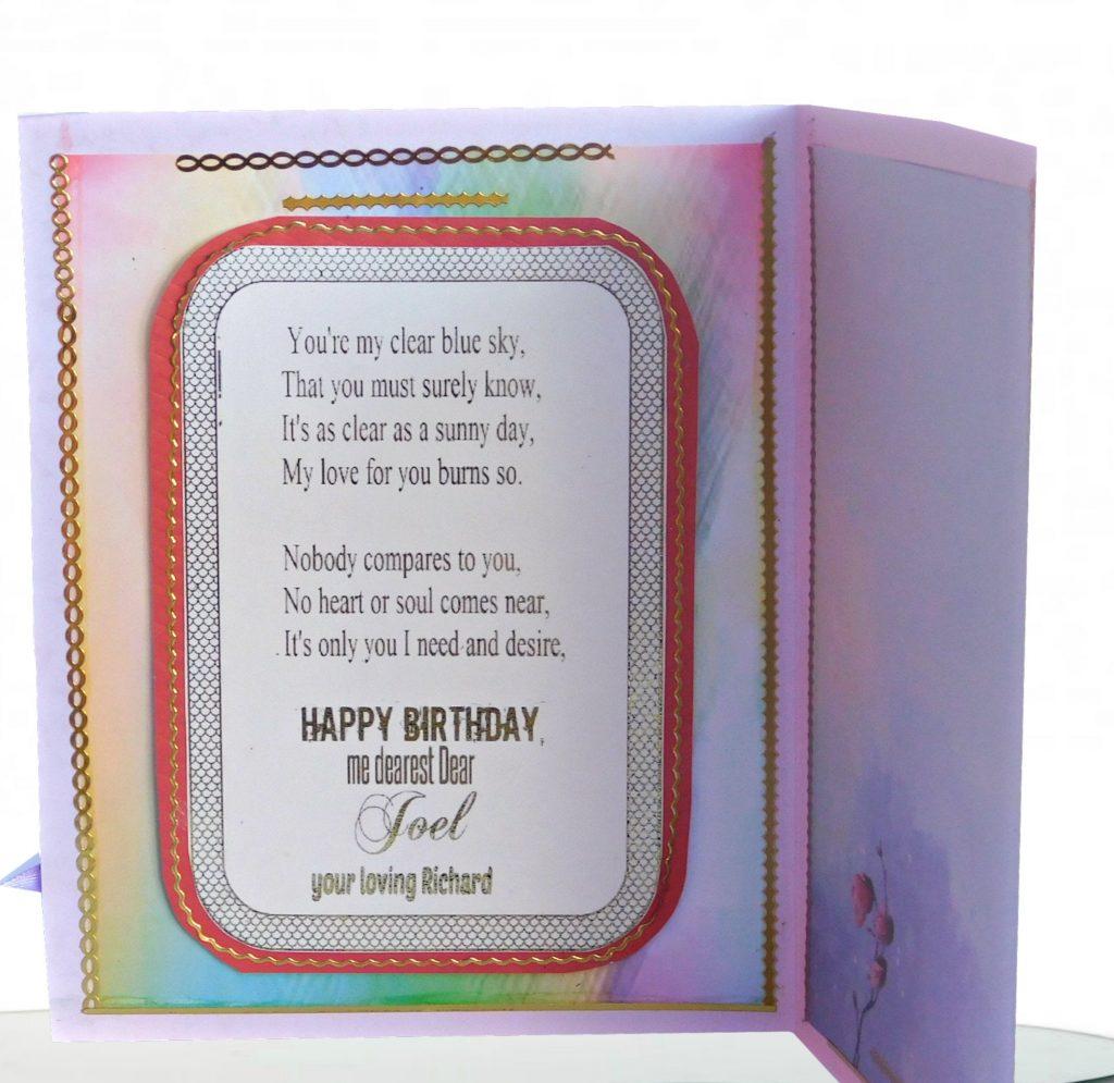 birthday card custom modern vintage birthday greeting for