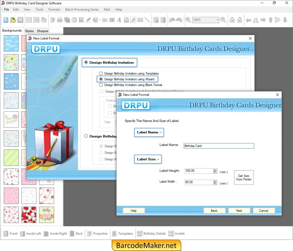 birthday card maker software screenshots birth day card
