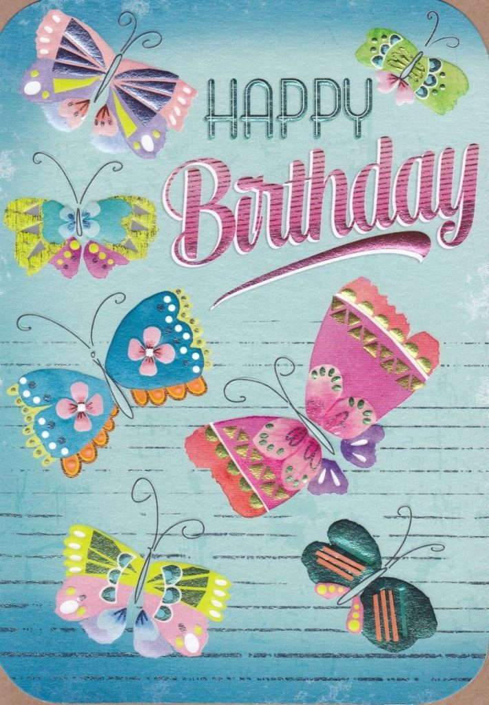 butterflies happy birthday card