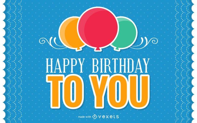 colorful birthday card maker editable design