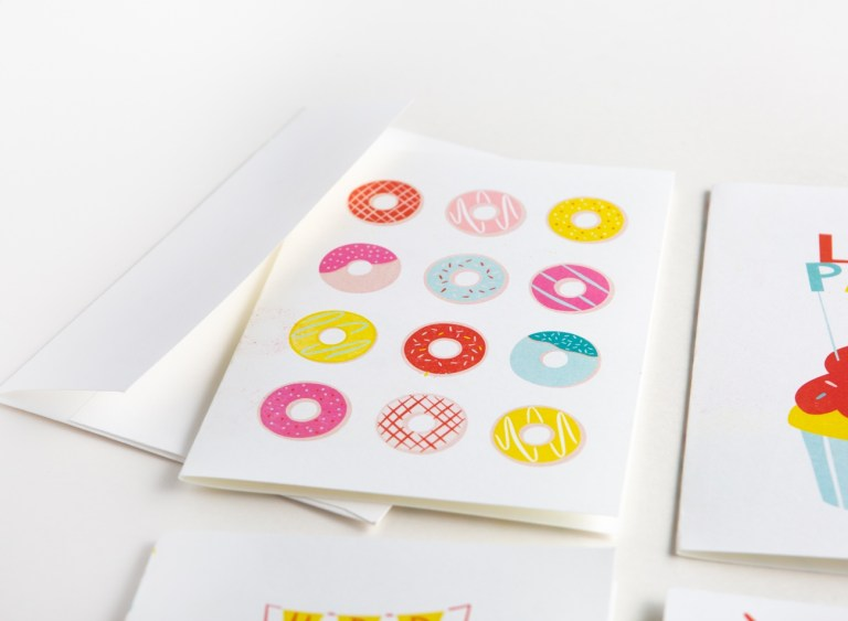 donut printable birthday card design eat repeat