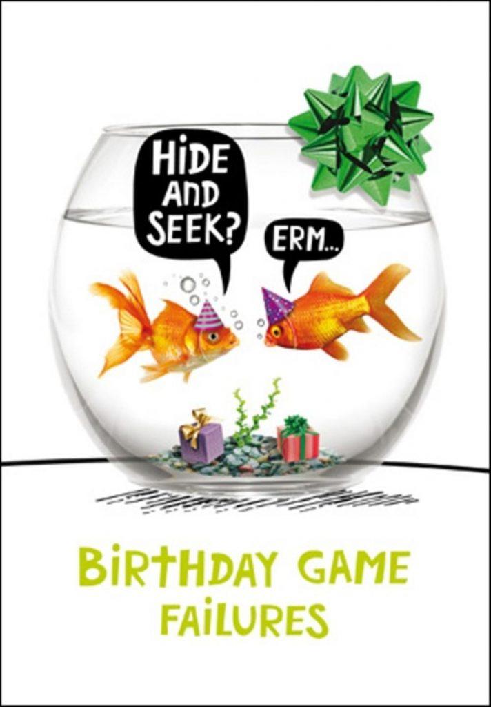 goldfish hide seek birthday funny birthday card