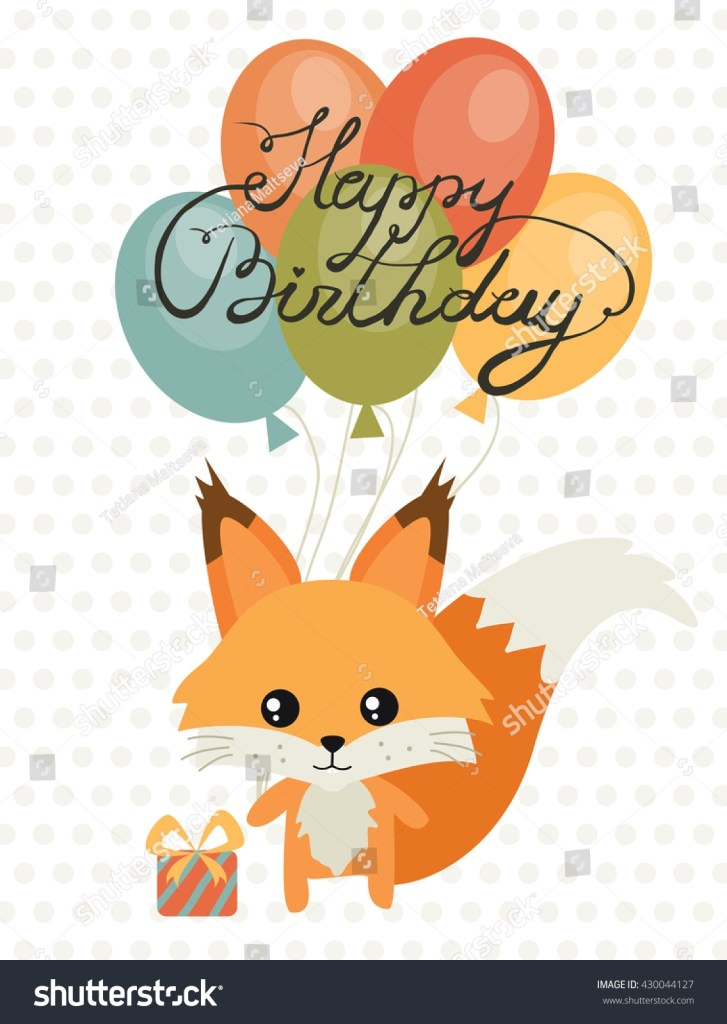 happy birthday card birthday cute squirrel stock