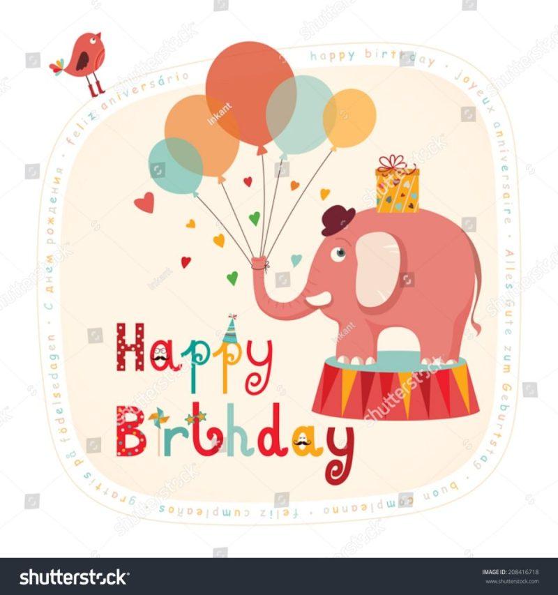 happy birthday card funny birthday card stock vektorgrafik