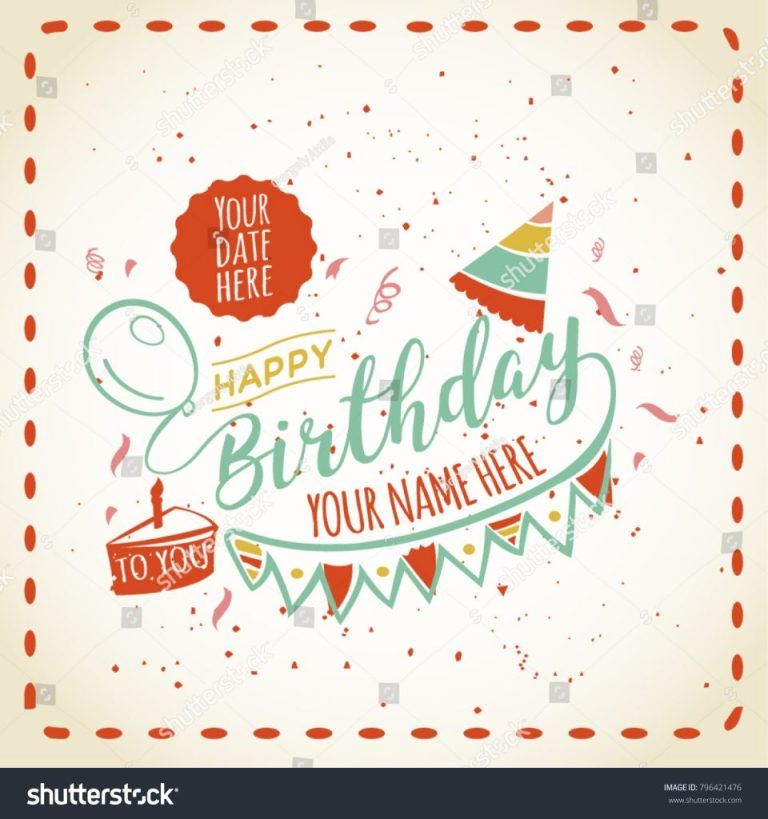 happy birthday card space your name royalty free stock image