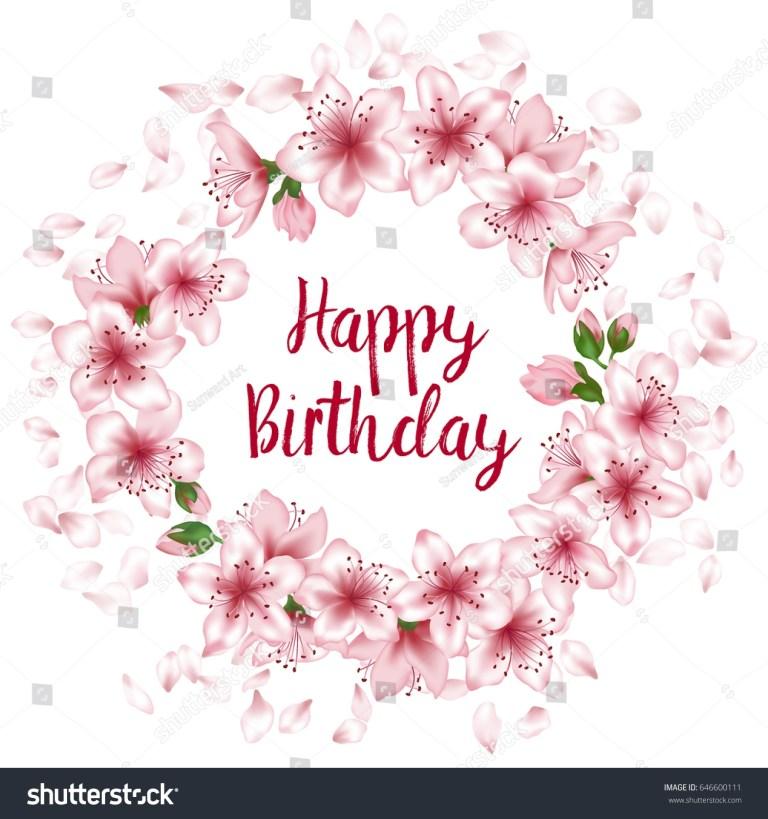 happy birthday greeting card template round stock