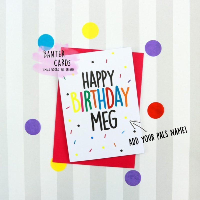 happy birthday name birthday card