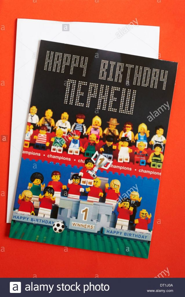 happy birthday nephew lego birthday card from marks