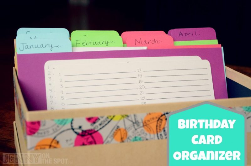 how to make a birthday card organizer and card box card