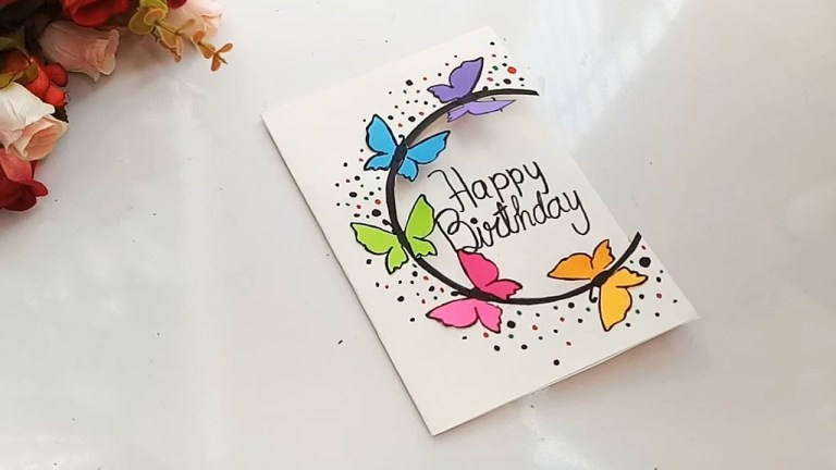 how to make special butterfly birthday card for best frienddiy gift idea