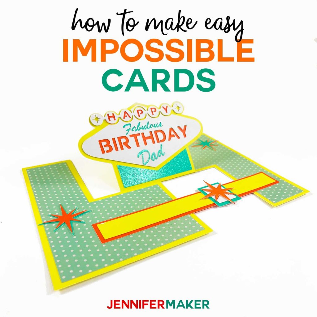 impossible card templates super easy pop up cards