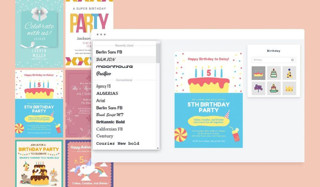 make birthday invitation cards online for free fotor