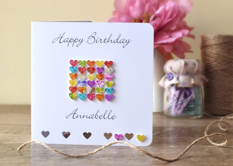 personalised birthday card handmade personalized happy