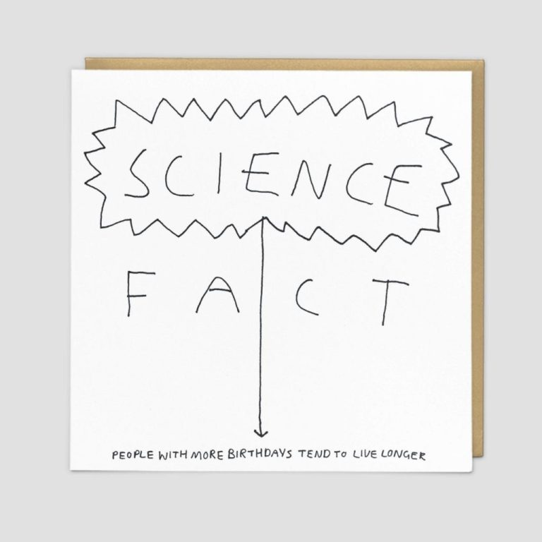 science fact good things range funny birthday card