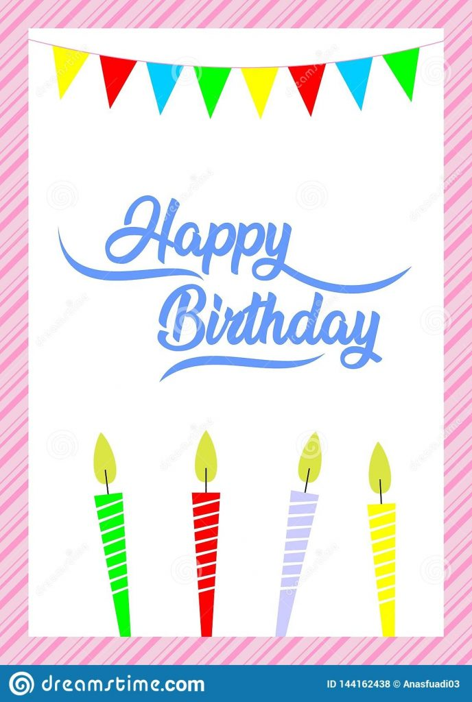 simple birthday card happy birthday to you stock