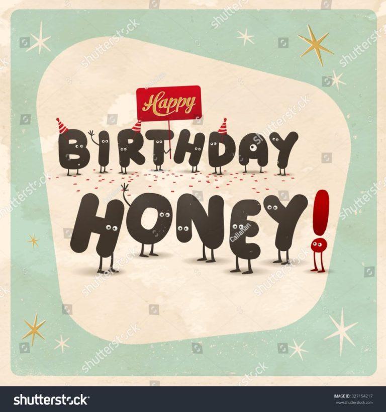 vintage style funny birthday card happy stock vektorgrafik