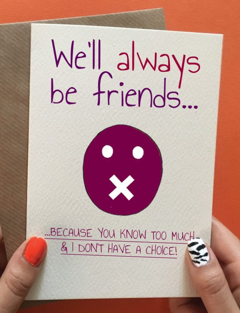 well always be friends funny birthday cards friend