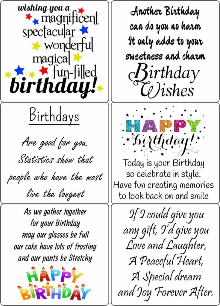 190 free birthday verses for cards 2020 greetings and