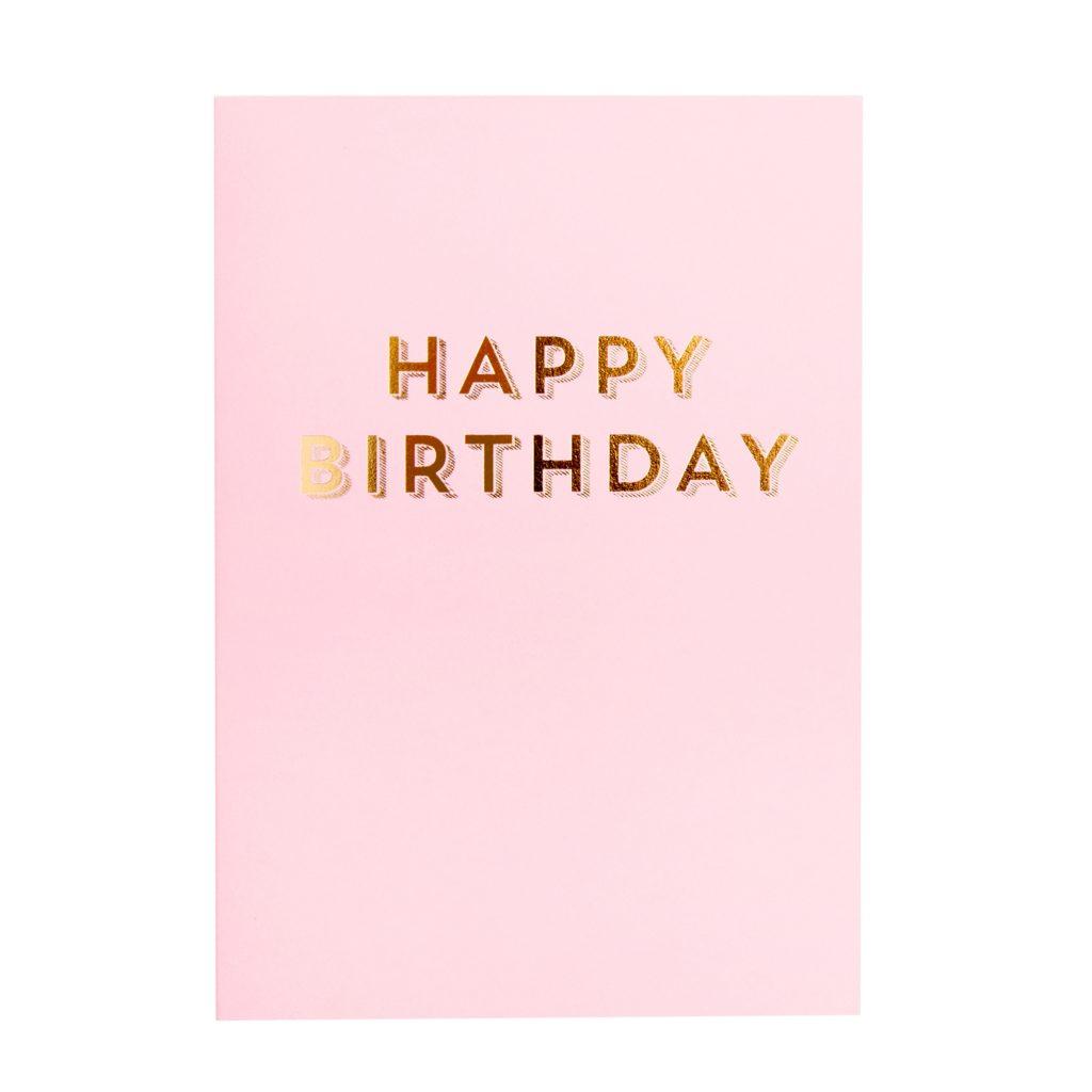 a6 greeting card birthday pink essentials