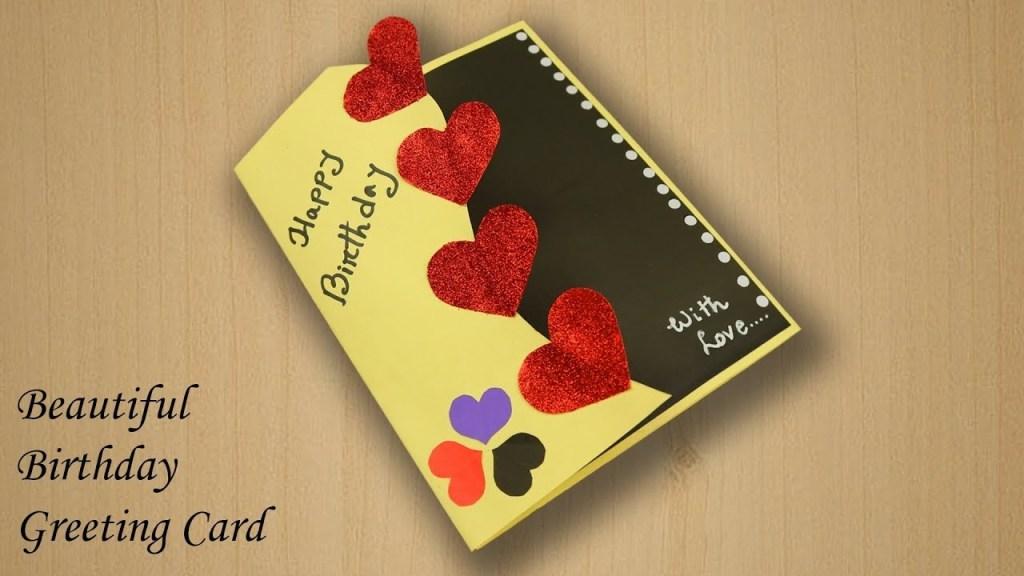 beautiful birthday greeting card idea beautiful handmade birthday card idea diy birthday card