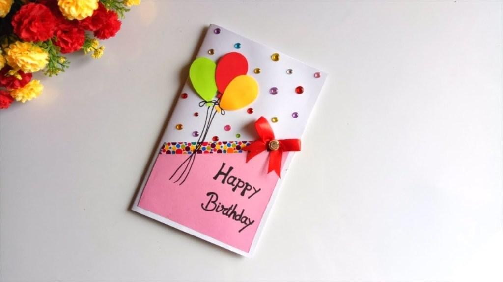 beautiful handmade birthday card idea diy greeting cards for birthday