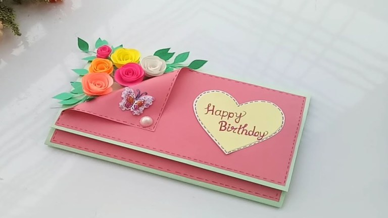 beautiful handmade birthday cardbirthday card idea