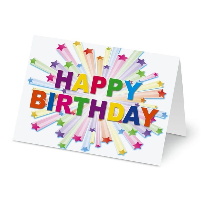 birthday stars birthday cards