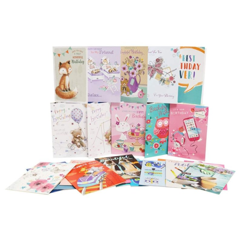 box of 576 assorted greeting cards 12x48 designs greetings cards at the works