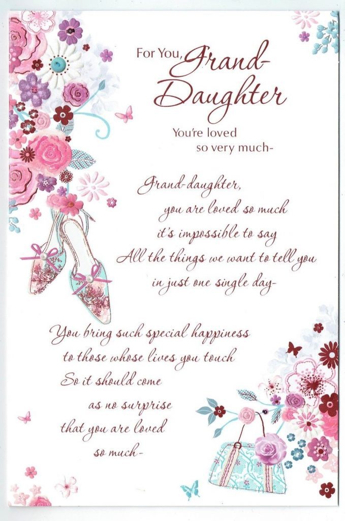 details about granddaughter birthday card for you granddaughter you are loved so very much