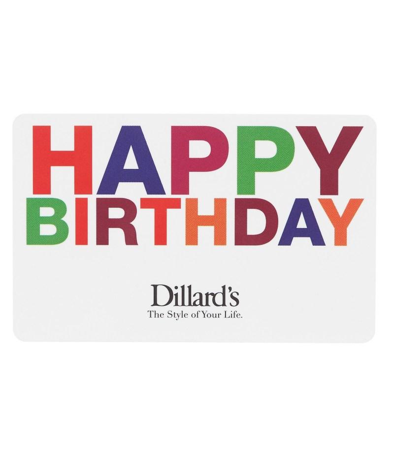dillards happy birthday gift card dillards