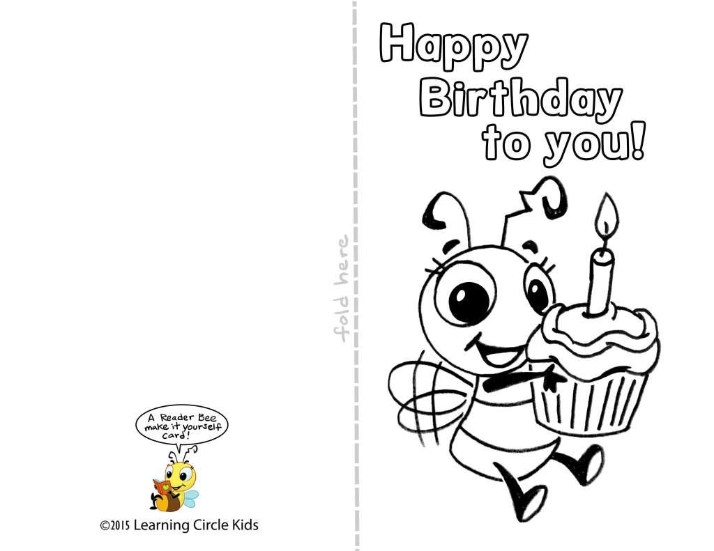 diy free printable birthday card for kids to decorate and