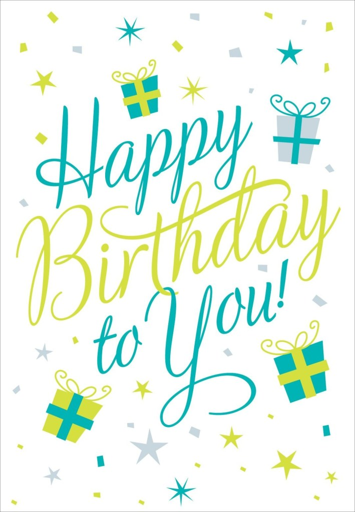 free printable happy birthday to you greeting card alles