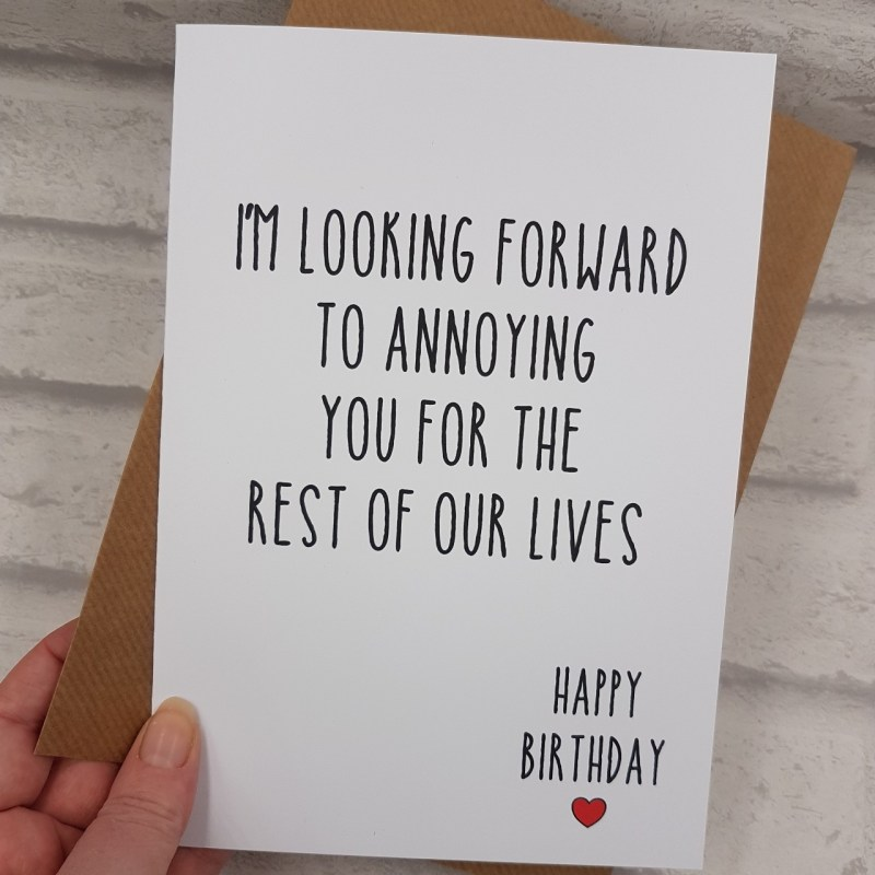 funny birthday card boyfriend husband girlfriend depop
