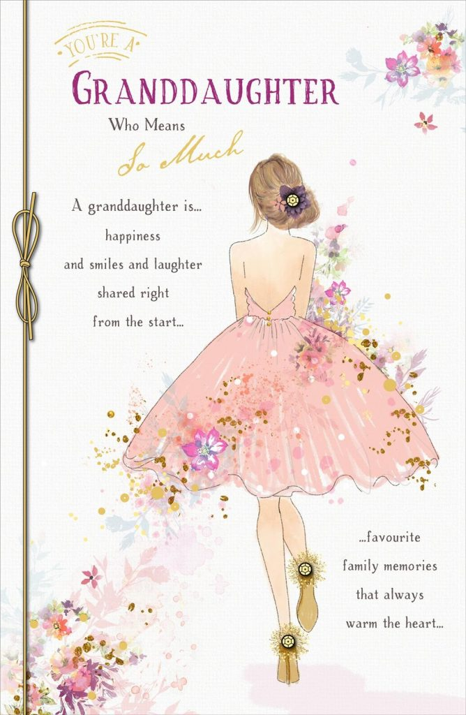 gibson youre a granddaughter who means so much exquisite birthday card