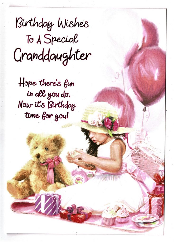 granddaughter birthday card birthday wishes to a special granddaughter