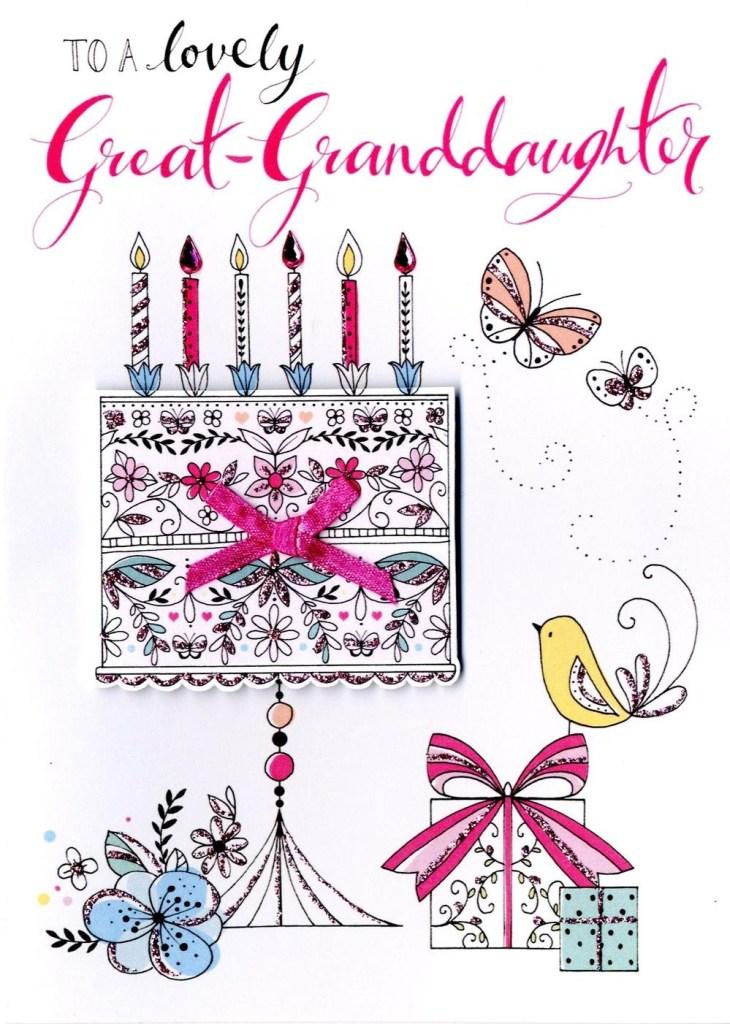 great granddaughter birthday greeting card